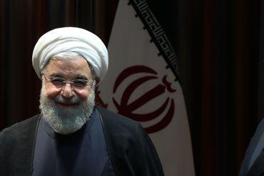 Le président iranien Hassan Rohani, peu avant une rencontre bilatérale avec Emmanuel Macron, le 24 septembre 2019 à New-York