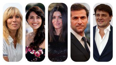 """Les acteurs de """"Le temps est assassin"""" : Mathilde Seigner, CaterinaMurino, Jenifer,Grégory FitoussietThierry Godard."""