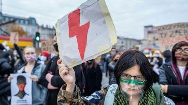 Une manifestante polonaise
