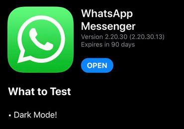 WhatsApp : Le mode sombre sur iOS, c'est pour bientôt
