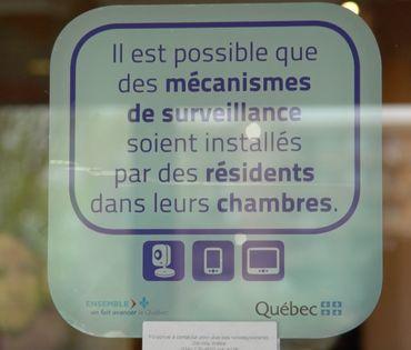 Voici le pictogramme que chaque maison de repos du Québec doit désormais afficher à l'entrée du bâtiment pour prévenir les visiteurs.