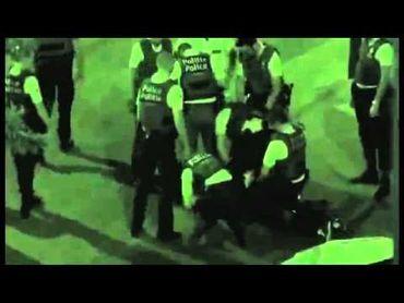 Image d'une vidéo filmée par un quidam et postée sur youtube d'un incident survenu à Bruxelles en 2012