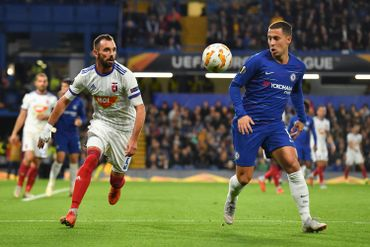Eden Hazard face à Vidi en Europa League