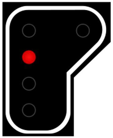 Un signal rouge impose l'arrêt du train.