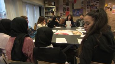 Un reportage sur le projet Mursmurs au Lycée Guy Cudell de Saint-Josse