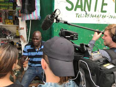 Une interview à Brazzaville - marché de Poto-Poto