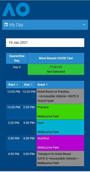Le programme prévu pour le mardi 19 janvier