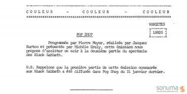 Archive Sonuma: Black Sabbath en 1971