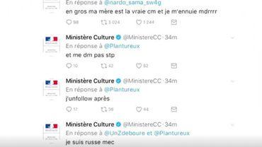 """Le compte Twitter du ministère de la Culture français """"usurpé"""" pendant la nuit"""