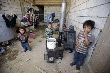 Des enfants syriens dans la vallée de la Bekaa: plus de 700 000 réfugiés syriens sont arrivés au Liban depuis le début du conflit. Leurs conditions de vie deviennent de plus en plus difficiles