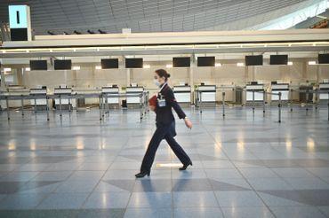 Un aéroport Haneda de Tokyo... vide, le 10 mars 2020