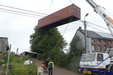 En septembre 2017, le container arrive à José