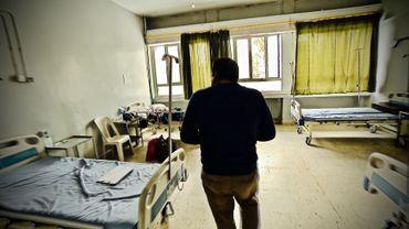 Chambre d'enfants, blessés à Baghouz.