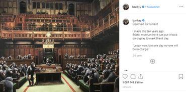 Le commentaire de Banksy sur Instagram