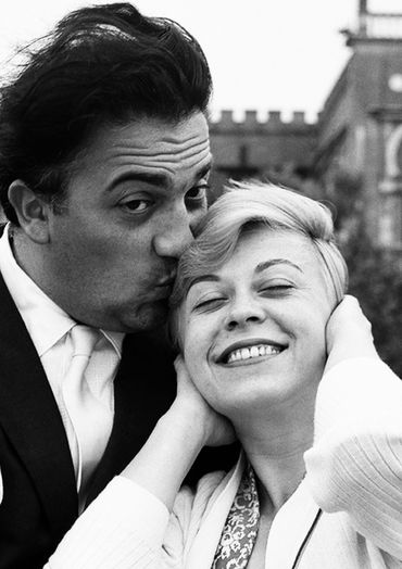 Fellini et Giulietta Massina