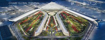 La future aéroport de O'Hare à Chicago