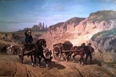 Van Dervin, Paul_Avenue Louise en 1863© Musée de la Ville de Bruxelles