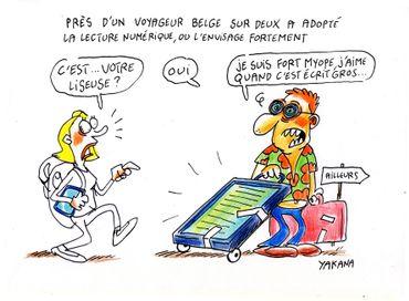 Près d'un voyageur belge sur deux a adopté la lecture numérique ou l'envisage fortement