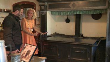 Florence de Moreau  propose à Jean-philippe Watteyne de cuisiner dans les cuisines du château où le vieux fourneau a été remis en état de marche…