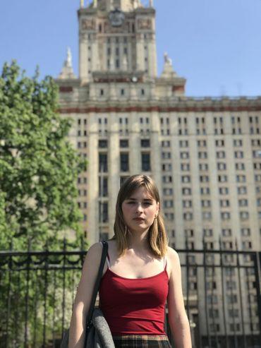 Maria Tcheremnova, étudiante en deuxième année de physique.