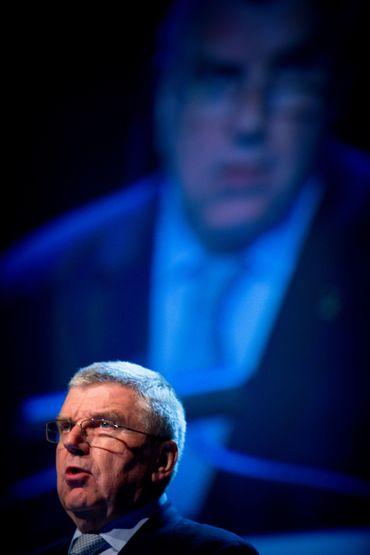 Thomas Bach, le président du CIO, au sommet de Gold Coast ce 07 mai