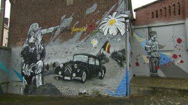 Les fresques murales. sur le site de l'ancien Tir de Marcinelle