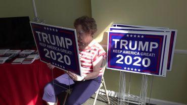 Louise Garrett, partisane de Donald Trump en Alabama