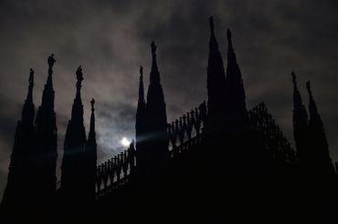 Vue sur la cathédrale de Milan, Italie