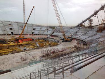 L'entreprise belge Besix a entamé la restauration du stade national de Doha en vue de la coupe du monde de football organisée au Qatar en 2022