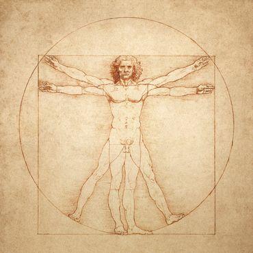L'homme de Vitruve de Leonardo Da Vinci