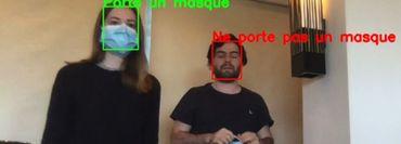 Les caméras qui détectent le port d'un masque
