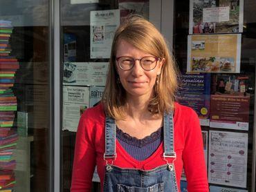 Myriam Radoux, l'une des bibliothécaires de la place André Musch
