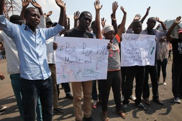 Manifestation des membres de La Lucha pour réclamer le départ de Joseph Kabila