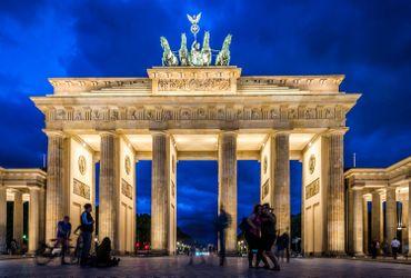 La porte de Brandebourg, l'un des symboles de l'unification allemande.