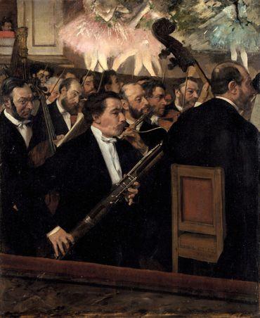 Edgar Degas - L'orchestre de l'opéra de Paris