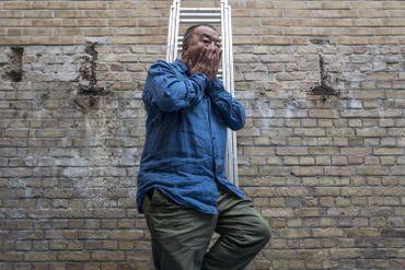 Ai Weiwei dans son atelier berlinois en avril 2018.