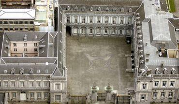 Vue aérienne du Palais d'Egmont en 2006