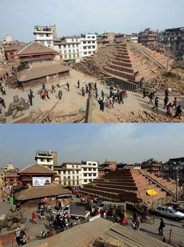 Le Népal, un an après à Durbar Square
