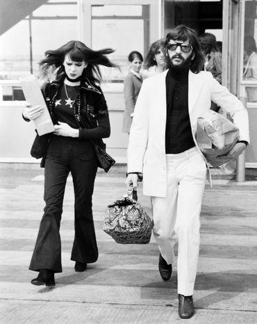 Ringo Starr et sa femme Maureen, à Londres, le 13 mai 1971