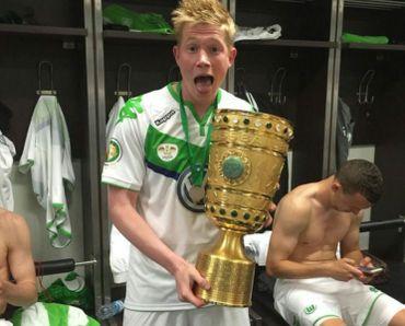 Kevin De Bruyne a remporté la Coupe d'Allemagne avec Wolfsburg en 2015