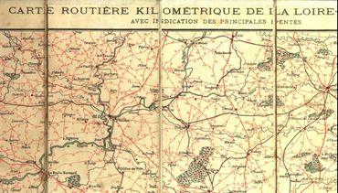 Carte pour vélo de Loire-Atlantique  (éditeur local Th. Veloppé) (non datée)