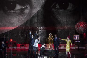 Don Giovanni à la Monnaie : Andreas Wolf (Leporello), Rinat Shaham (Donna Elvira), Julie Mathevet (Zerlina), Topi Lehtipuu (Don Ottavio), Barbara Hannigan (Donna Anna)