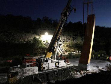 La E411 fermée la nuit de samedi à dimanche pour le placement de l'Arc majeur
