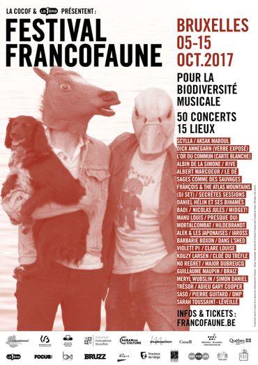 """FrancoFaune programme 50 """"espèces musicales en voie d'apparition"""" du 5 au 15 octobre"""