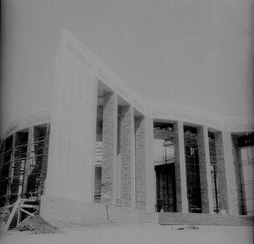 photo de la construction du Mardasson, en 1950