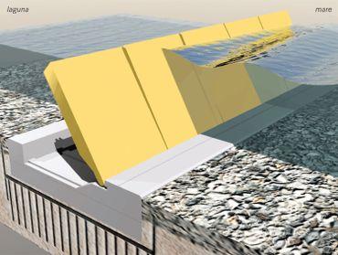 Le projet Mose permettrait d'ériger des digues temporaires en cas de grandes marées.