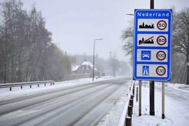 Image de la frontière néerlandaise au nord du Limbourg, ce 7 février 2021
