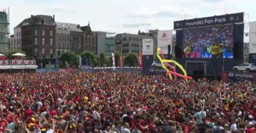 Le noir jaune rouge à l'honneur lors de la diffusion des matchs de foot à Anvers,