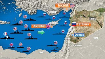 Conflit en Syrie: présence militaire en Méditerranée