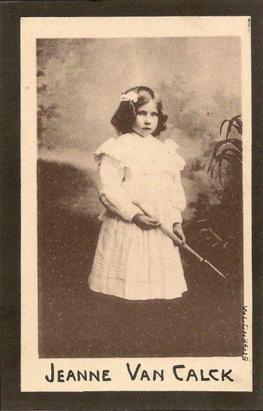 Jeanne Van Calck, la petite innocente âgée de 8 ans